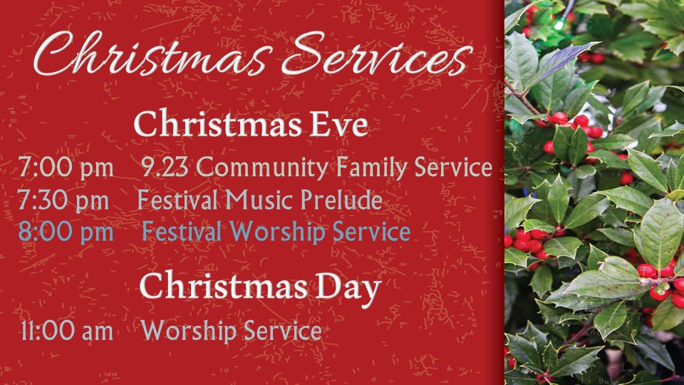 Christmas Worship Schedule