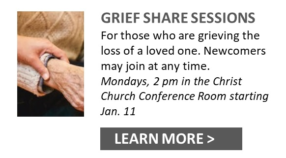 Grief Share Mondays at Christ church